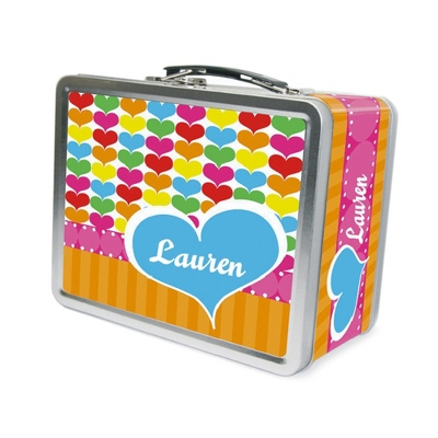 Rainbow Hearts Lunch Box - Children's School Gifts