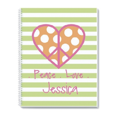 Peace Love Notebook - Children's School Gifts