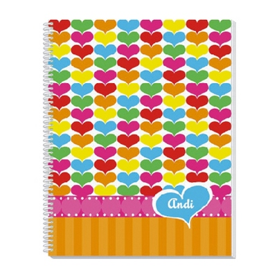 Rainbow Hearts Notebook - Children's School Gifts
