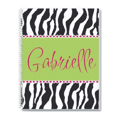 Zebra Notebook - Children's School Gifts