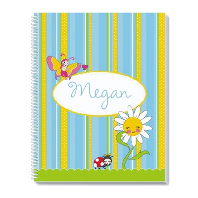Garden Party Notebook - Children's School Gifts