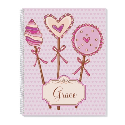 Lollipop Hearts Notebook - Children's School Gifts