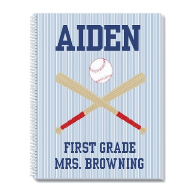 Baseball Notebook - Children's School Gifts