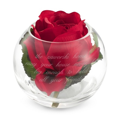 Engraving Flowers on Crystal