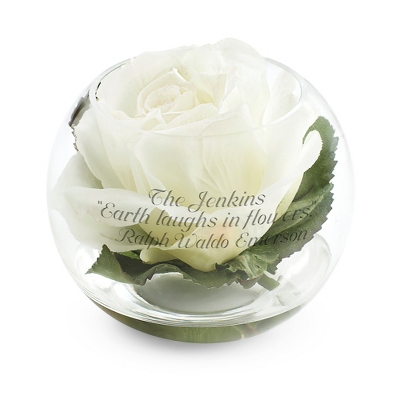 Floating White Rose - Vases & Floral Arrangements