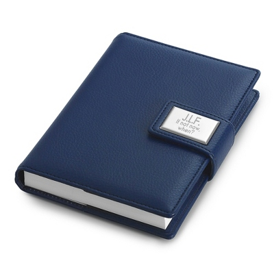 Personalized Small Blue Journal - Business Gifts For Him