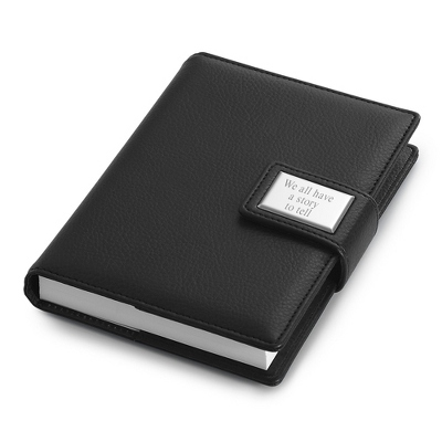 Small Black Personalized Journal