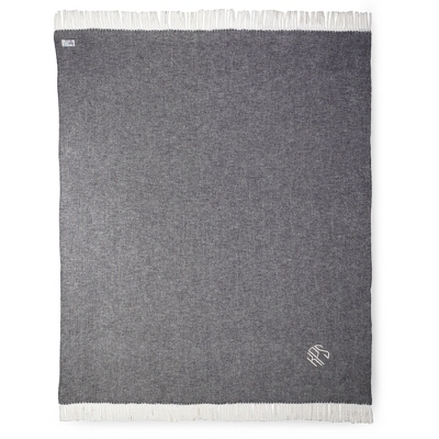 Charcoal Herringbone Throw - $70.00