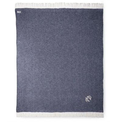 Personalized Navy Blankets