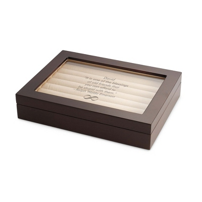 Large Brown Cuff Link Valet Box