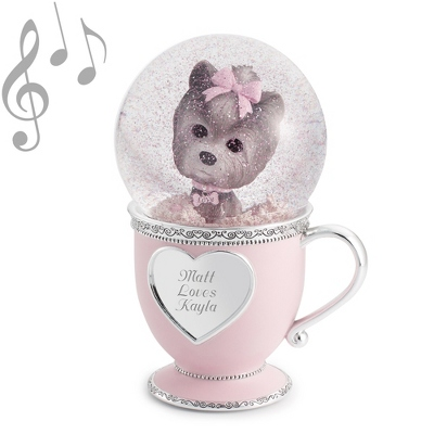 Puppy Love Musical Water Globe