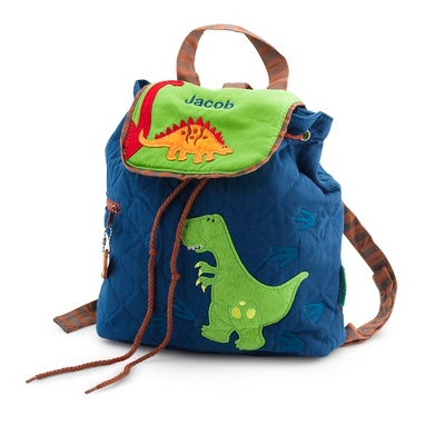 Dino Quilted Backpack - $25.00