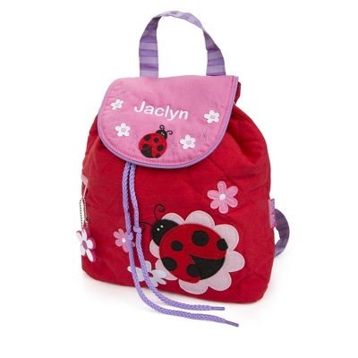 Personalized Ladybug Quilted Backpack for Girls