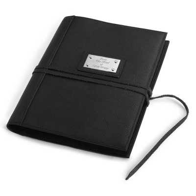 Black Wrap Leather Journal - $55.00