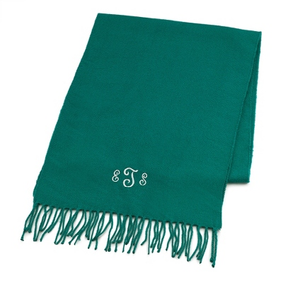 Comfy Teal Scarf - Embroidered Totes & Accessories