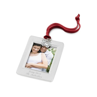 Butterfly Charm Photo Frame Ornament