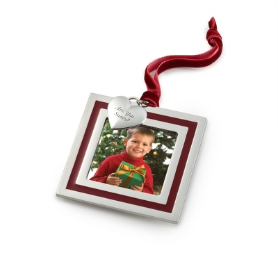 Red Stripe Photo Frame Ornament - All Personalized Ornaments