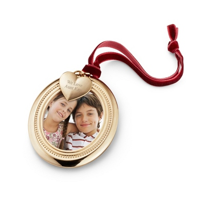 Gold Oval Photo Frame Ornament