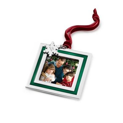 Green Stripe Photo Frame Ornament
