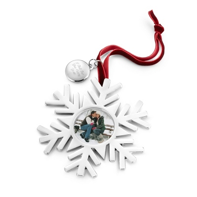 Silver Snowflake Photo Frame Ornament - $12.99