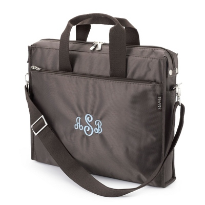 Chocolate Logan Laptop Tote - UPC 825008302600