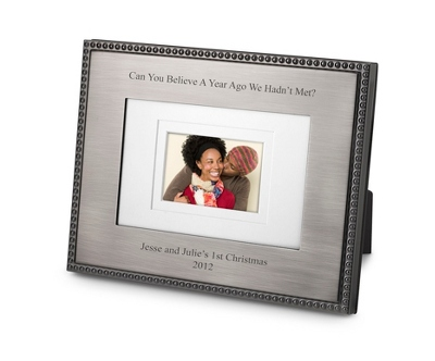 Landscape Black Nickel Beaded 4x6 Frame - Wedding Frames & Albums