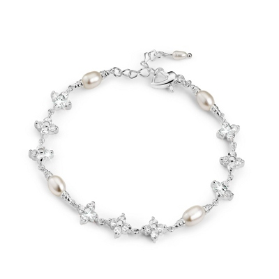 Grace Bracelet with Freshwater Pearls - $60.00