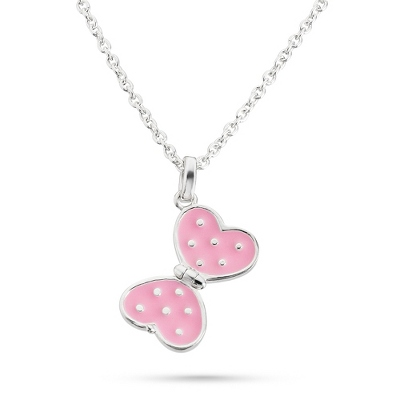 Sterling Girl's Kit Heath Butterfly Necklace with complimentary Filigree Keepsake Box