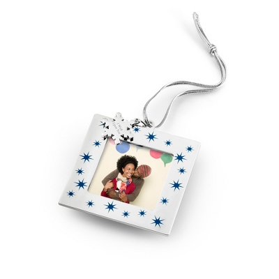Blue Star Photo Frame Ornament