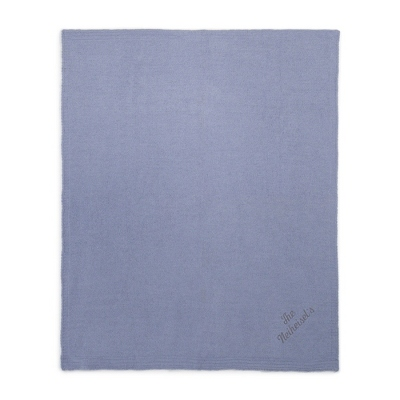 Steel Blue Chenille Throw