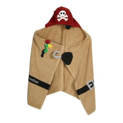 Boy's Pirate Hooded Towel