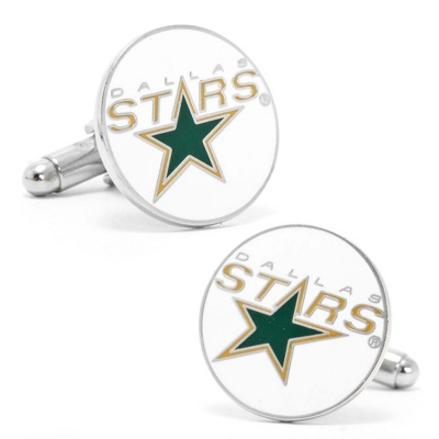 Dallas Stars Cuff Links with complimentary Weave Texture Valet Box