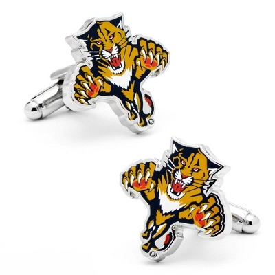 Florida Panthers Cuff Links with complimentary Weave Texture Valet Box