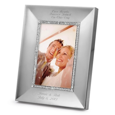 Portrait Midnight Chrome 4x6 Frame - Wedding Frames & Albums