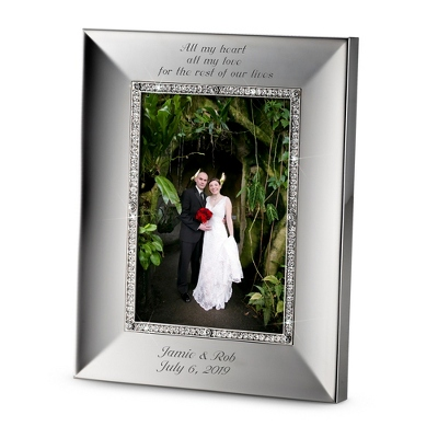 Portrait Midnight Chrome 5x7 Frame - Wedding Frames & Albums