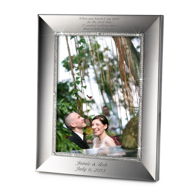 Portrait Midnight Chrome 8x10 Frame - Wedding Frames & Albums