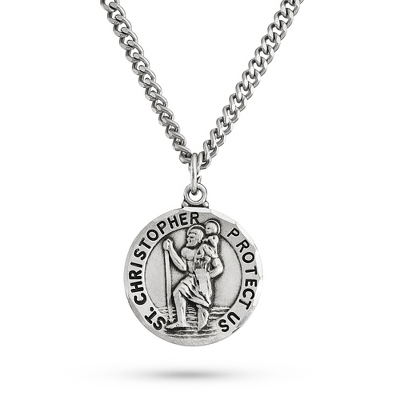 St. Christopher Pendant with complimentary Tri Tone Valet Box