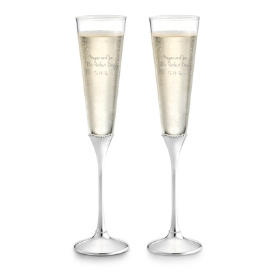 Waterford Lismore Beaded Toasting Flute Set