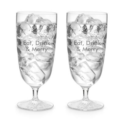 Waterford Clear Light Footed Beverage Pair - Cut Crystal Gifts