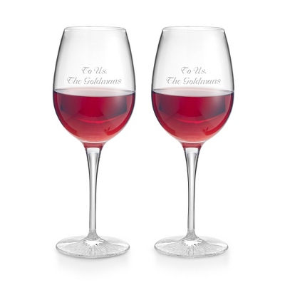 Waterford Clear Light Red Wine Pair - UPC 825008305779