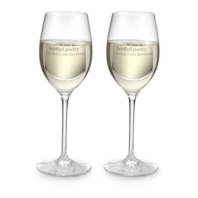 Personalized Waterford Clear Light White Wine Pair by Things Remembered