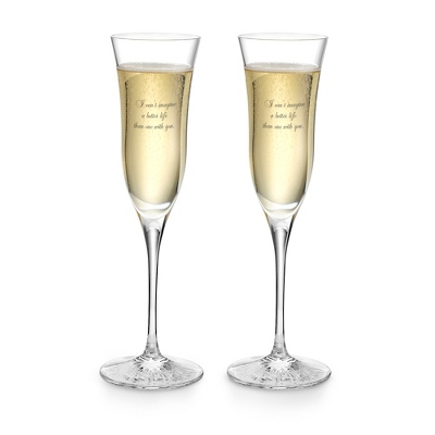 Waterford Clear Light Flute Pair