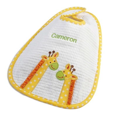 Yellow Giraffe Large Bib