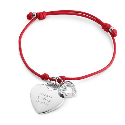 Red Friendship Bracelet with complimentary Filigree Keepsake Box - $9.99