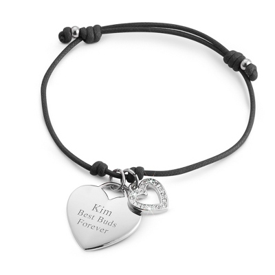 Black Friendship Bracelet with complimentary Filigree Keepsake Box - $14.99