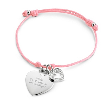 Light Pink Friendship Bracelet with complimentary Filigree Keepsake Box - $9.99
