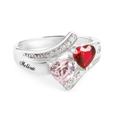 Diamond Anniversary Heart Ring