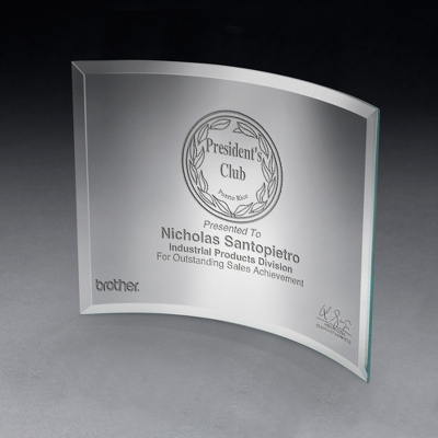Large Curved Glass Award
