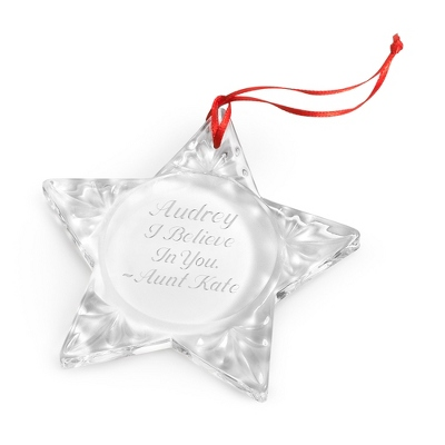 Crystal Star Ornament
