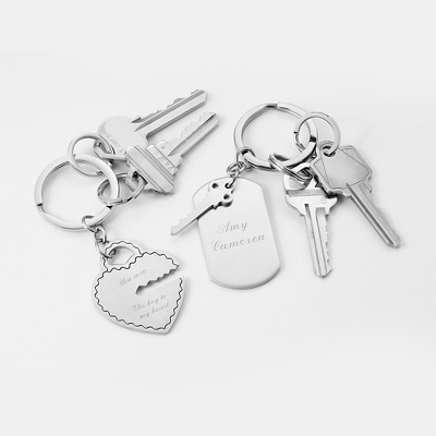 Personalized Key to my Heart Keychain